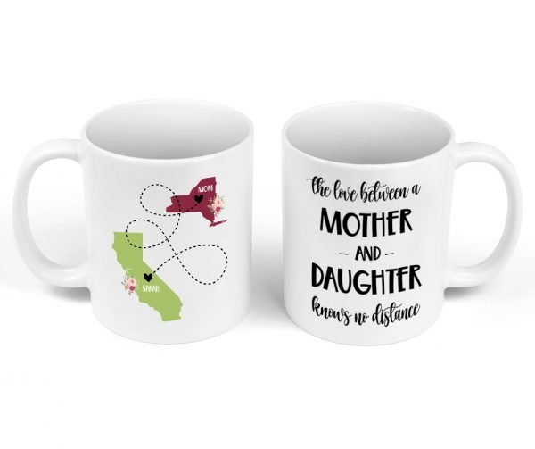 The love between a mom and her daughter mug